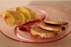 Assiette à foie gras - JVerre